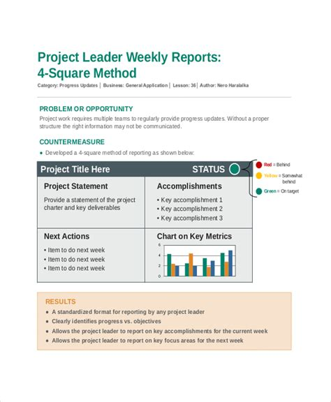 8 Project Update Templates Free Sle Exle Format Free Premium Templates Work Update Template
