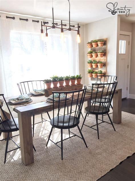 modern farm dining table diy modern farmhouse table as seen on hgtv open concept