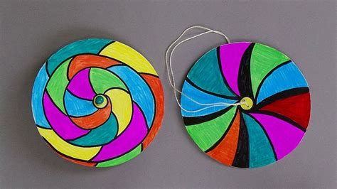 How To Make Easy Paper Crafts - how to make paper spinners easy paper crafts for my