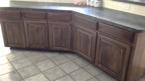 Restaining Bathroom Cabinets Re Stain Shade Glaze Kitchen Cabinets Completed Old