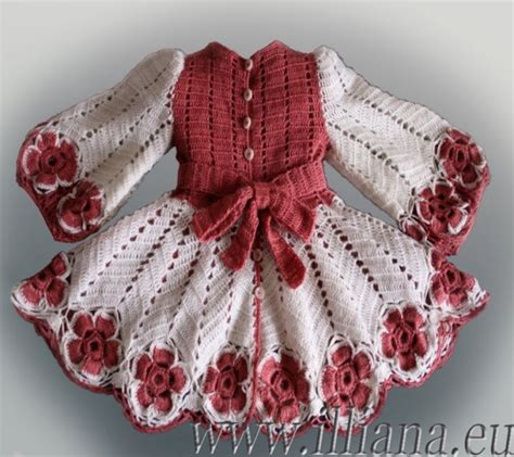Handmade Wool Baby Clothes - crochet pattern dress