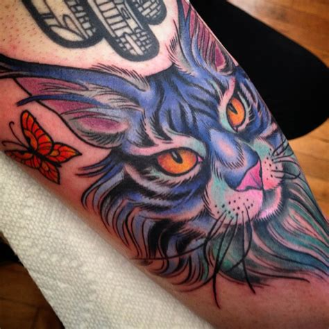 inspiring  cool maine coon tattoos mainecoonorg
