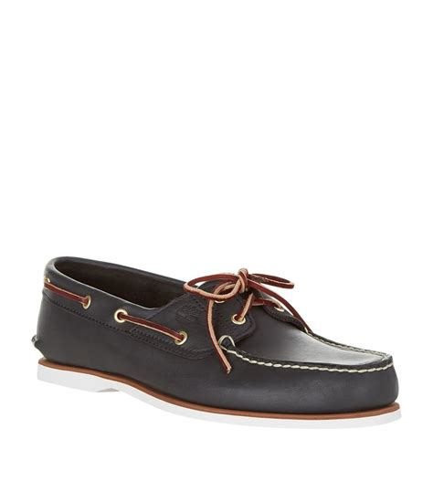 timberland earthkeepers boat shoes timberland earthkeepers 174 classic 2 eye boat shoe in black