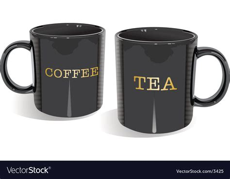 tea and coffee mugs tea and coffee mugs royalty free vector image vectorstock