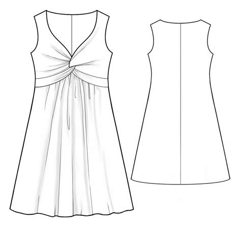 online pattern download dress with a knot sewing pattern 2022 made to measure