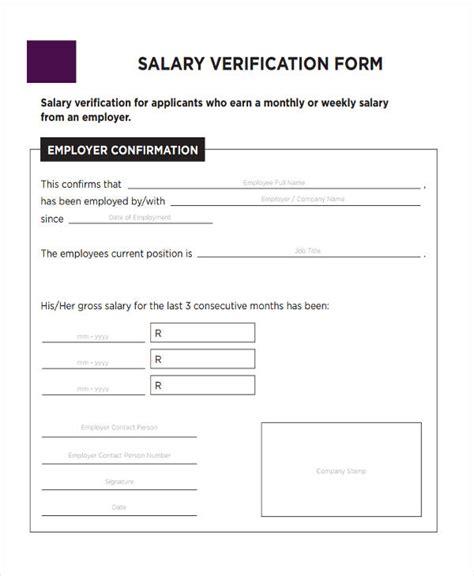 Salary Verification Letter Basics Verification Forms In Pdf