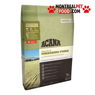 is pork for dogs acana pork for montreal pet food