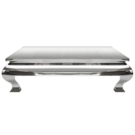Stainless Steel Coffee Table 1970s Polished Stainless Steel Coffee Table In The Style Of Karl Springer For Sale At 1stdibs