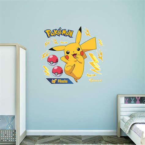 pikachu wall decal shop fathead 174 for pok 233 mon decor