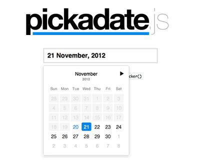 javascript format date as you type pickadate js lightweight jquery dateinput picker