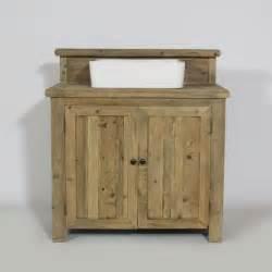 meuble salle de bain 1 vasque authentiq en bois achat