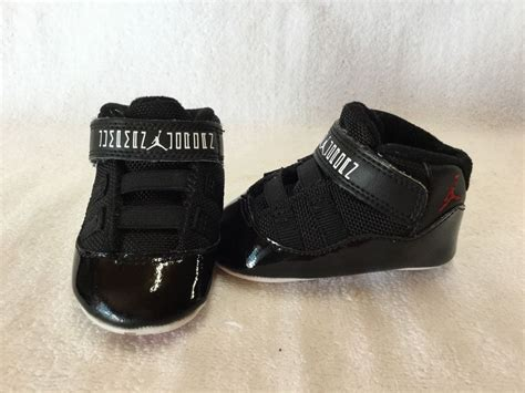 crib shoes for nike air 11 retro bred infant baby boys black