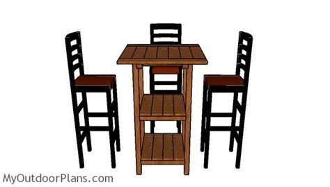 high top bar table plans wooden bar table plans myoutdoorplans free woodworking
