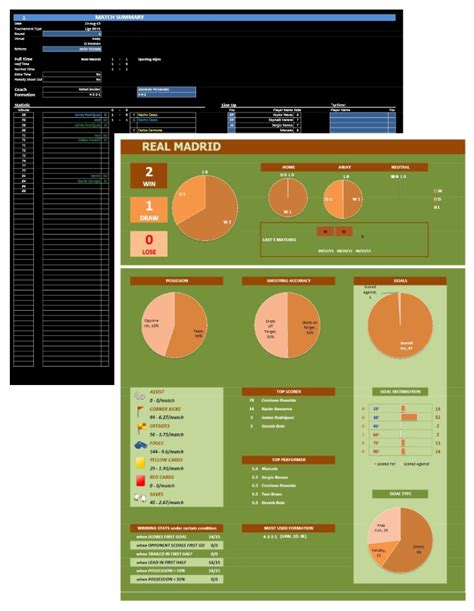 soccer team template soccer team stats tracker excel templates