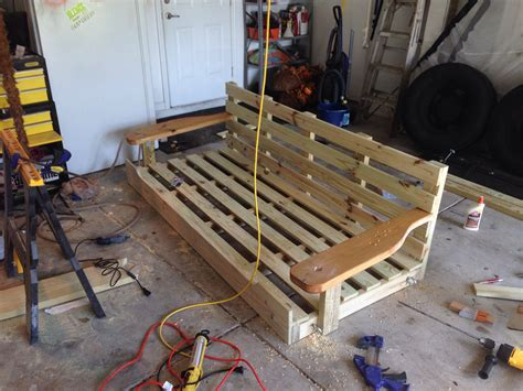 porch bed swing plans ana white porch swing bed diy projects