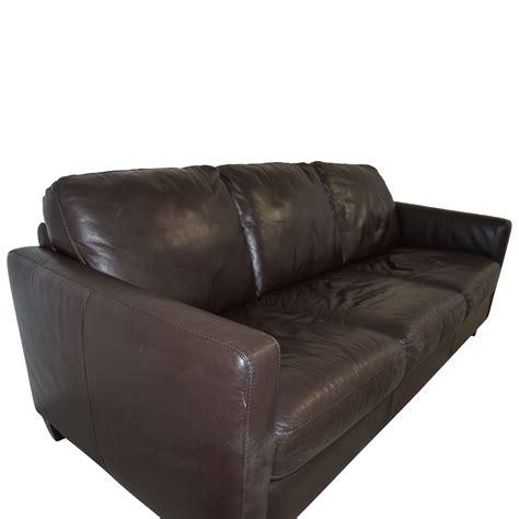 natuzzi brown leather 78 natuzzi natuzzi brown leather three cushion