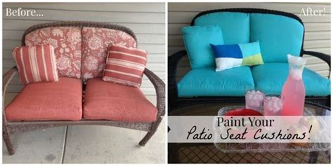 Patio Cushions For Less Paint Your Patio Seat Cushions And Transform Your Patio