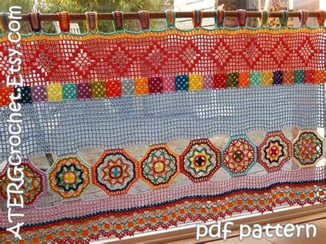 jute vorhang best 25 crochet curtain pattern ideas on