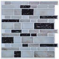 Stick On Kitchen Backsplash Peel N Stick Kitchen Backsplash Tiles Brick Pattern Wall Stickers 12 X 12 In