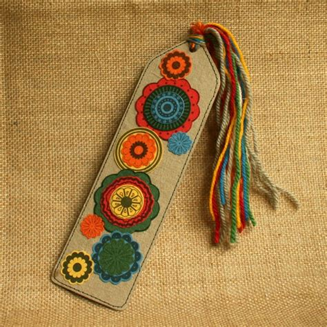 Handmade Bookmark Ideas - bookmark eco friendly handmade paper funky flowers earthy