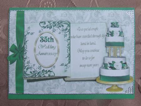 35th Jade Wedding Anniversary   CUP92101 543   Craftsuprint