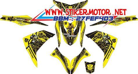 Sticker Striping Motor Stiker Honda Supra X Transformers Hijau Spec A striping motor mio m3 transformer stikermotor net