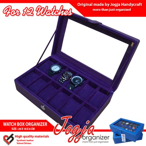 Isi 100 Pcs Kotak Box Jam Tangan Dus Packing Bantal 1 purple box box jam kotak jam tempat jam