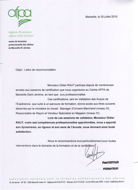 Lettre De Motivation Sur Recommandation Exemple Application Letter Sle Exemple De Lettre De Motivation Pour Une Formation Afpa