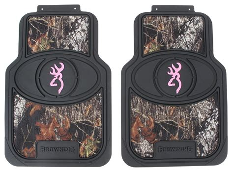 Browning Floor Mats browning for buckmark universal fit vehicle floor mats front camouflage and pink qty 2