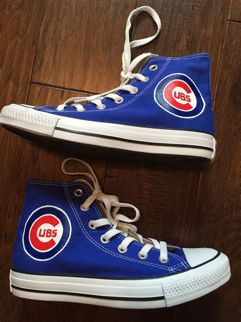 shoes chicago painted shoes chicago cubs converse