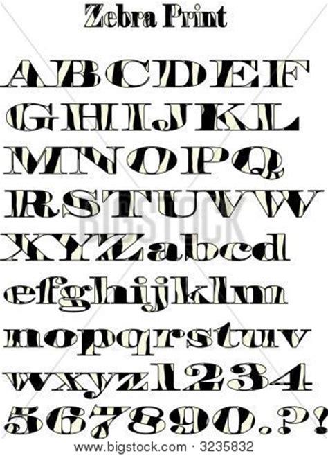 zebra pattern letters vector zebra pattern alphabet vector photo bigstock
