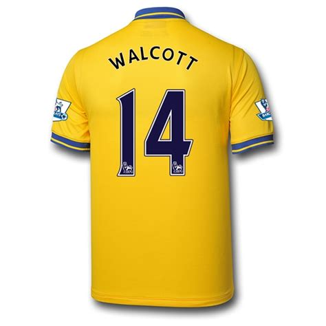 arsenal yellow jersey 13 14 arsenal 14 walcott away yellow jersey shirt arsenal