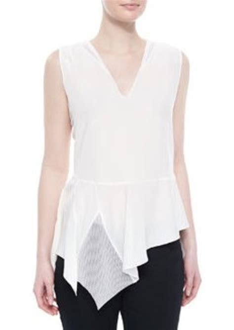 White Peplum Blouse elie tahari glenna sleeveless peplum blouse white glenna sleeveless peplum blouse white