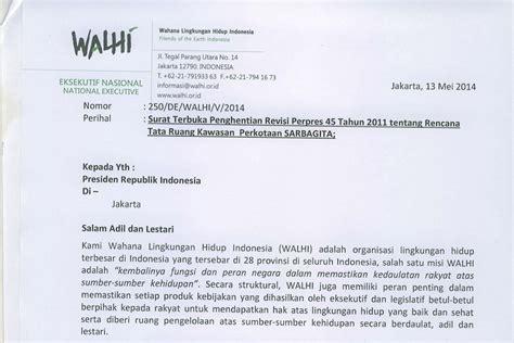 surat terbuka walhi untuk presiden balebengong