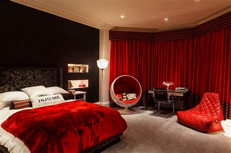 black and red bedroom 23 bedrooms that bring home the romance of red