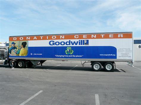 boat donation goodwill goodwill donation center box trailer wrap