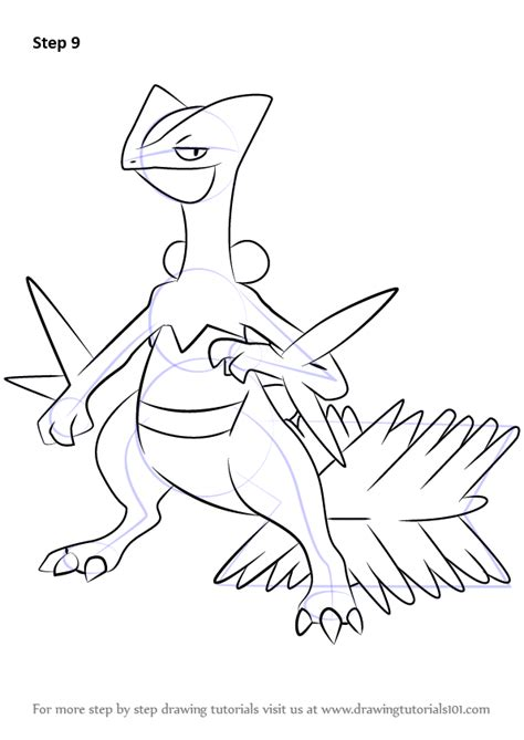 how to draw learn how to draw sceptile from step by