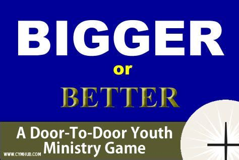 bigger better and 17 best images about youth ministry ideas on