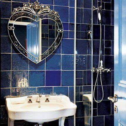 blue bathroom mirror blue bathroom love this mirror house stuff pinterest