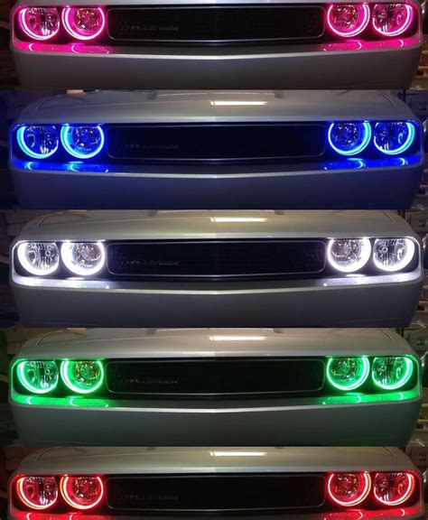 color changing led headlights 2005 2010 dodge charger color changing led light headlight