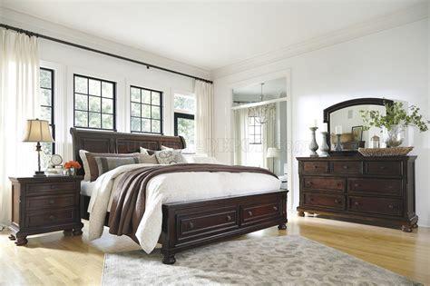 porter bedroom   burnished brown wstorage bed  ashley