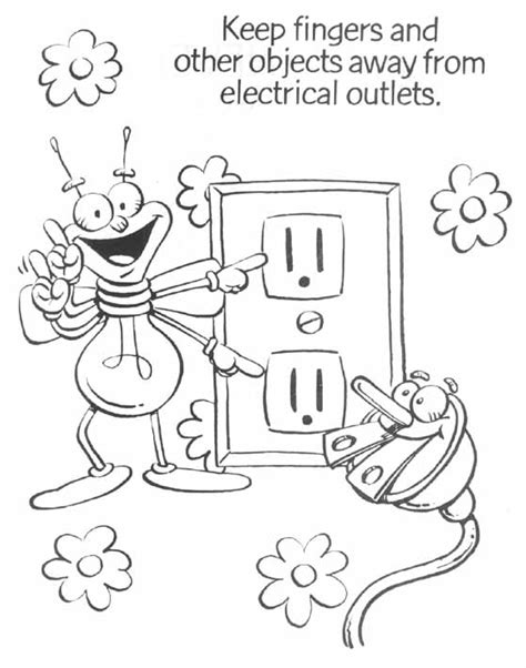 free coloring pages of electricity