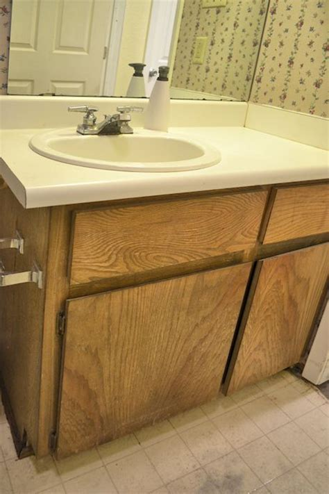 Redo Bathroom Vanity Countertop Bathroom Vanity Makeover Hometalk