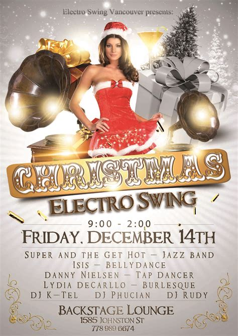 electro swing party friday december 14 2012 the backstage lounge live
