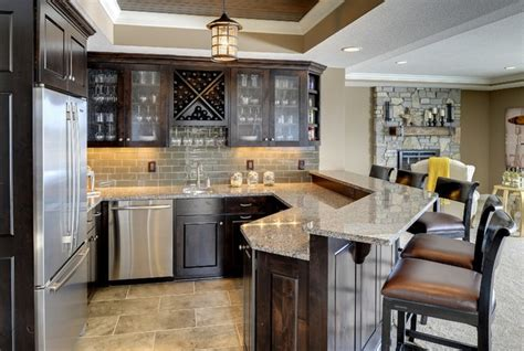 basement bar traditional kitchen minneapolis by basement bar kintyre model 2014 spring parade of homes