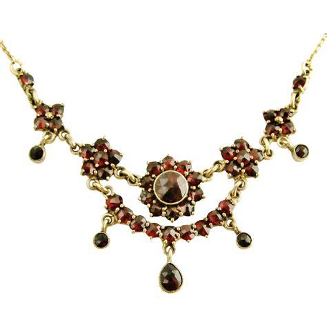 vintage bohemian garnet necklace from lyonesse on ruby