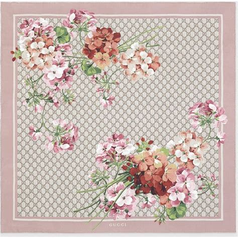 flower pattern gucci gucci gg blooms print silk scarf 11 245 czk liked on