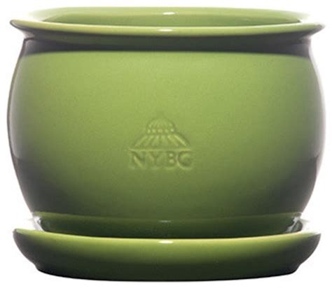Green Planter Pots by Large Glazed Pot In Green Indoor Pots And