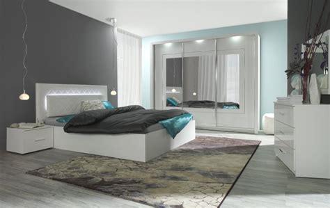 Schlafzimmer Komplett Modern Weiss by Komplett Schlafzimmer Hochglanz Wei 223 Mit Led Bett Schrank
