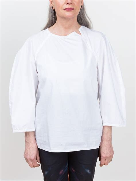 Cd598 Sofie Hi Lo Blouse sofie d hoore bring blouse in white